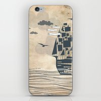 ship iPhone & iPod Skins featuring Ship by Emily Rose Scott