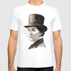 Lady Mary White Mens Fitted Tee MEDIUM