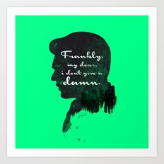 I don't give a damn! – Gone with the wind Silhouette Quote Art Print