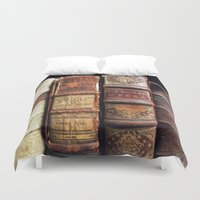 library Duvet Covers featuring Library by Mad Marys