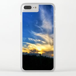 Fence Silhouette Clear iPhone Case