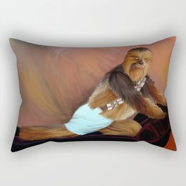 Chewbacca and the Timeless Art of Seduction Rectangular Pillow