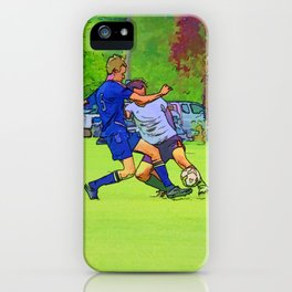 The Big Steal - Soccer Players iPhone Case