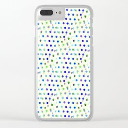 Blue/Green Dotty Clear iPhone Case