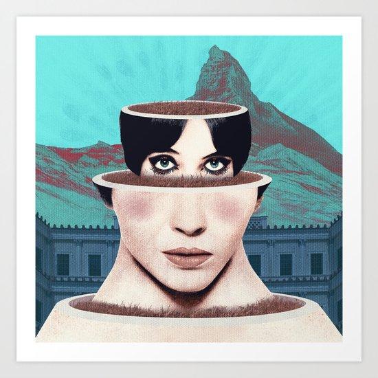 Matrioska Girl / Surrealism Art Print