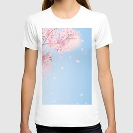 Spring season clouds and flowers T-shirt
