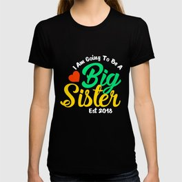Big Sister Est 2018, New Big Sister, Promoted To Sister, First Time Sister T-shirt