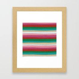 pattern funky stripes Framed Art Print