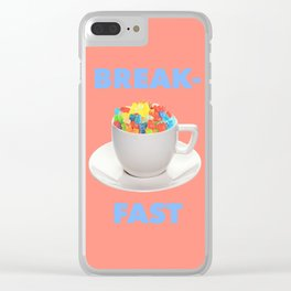 Breakfast Candy Clear iPhone Case