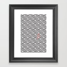 Leaping Men Framed Art Print