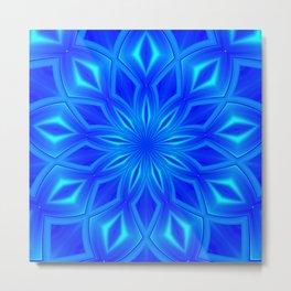 Mandala Blue 13 Metal Print