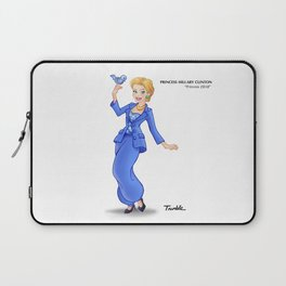 Princess Hillary Clinton (Trumble Cartoon) Laptop Sleeve