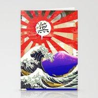 hokusai Stationery Cards featuring COLLAGE: Hokusai by Diavu'
