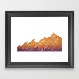 Colorado Mountain Ranges_Boulder Flat Irons Framed Art Print