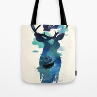 hook Tote Bags featuring Captain Hook by Robert Farkas