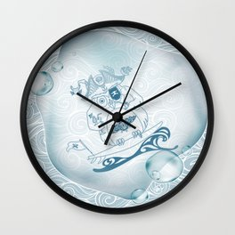 Piriowly Bubble VBlue Wall Clock