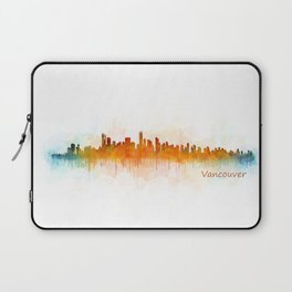Vancouver Canada City Skyline Hq v03 Laptop Sleeve