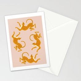 Leopard Race - pink Stationery Cards