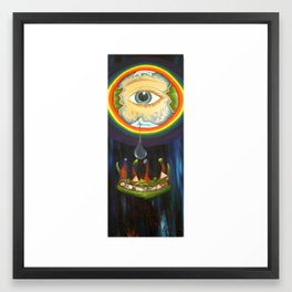 there but for the grace of god go i - tribute to princess dianna Framed Art Print