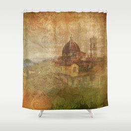 Italian Manuscript Shower Curtain