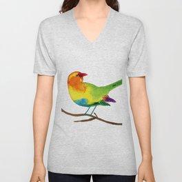 Colorful Bird Unisex V-Neck