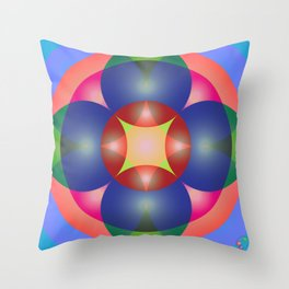 Atoms 39 Throw Pillow