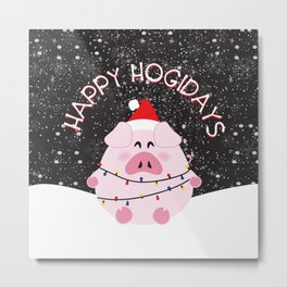 Happy Hogidays Metal Print