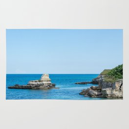 Seacoast of Adriatic Sea in Salento Italy Rug