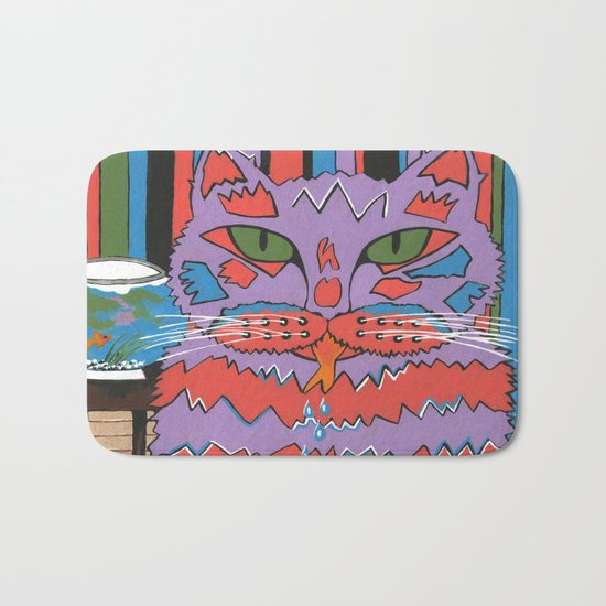 Cat Attack Bath Mat