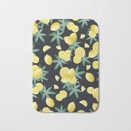 Lemon Twist Vibes #5 #tropical #fruit #decor #art #society6 Bath Mat