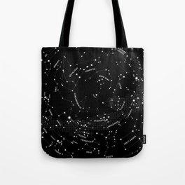 4168275ba7c4 Constellation Map - Black Tote Bag