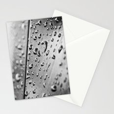 black and white drops Stationery Cards