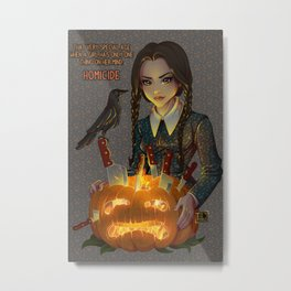 Wednesday Addams - Homicide Metal Print