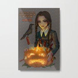 Wednesday Addams - Homicide Metal Print