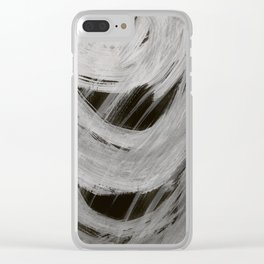 And the light came, Abstract, Black & White Clear iPhone Case