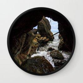 Ruby Beach Sea Cave Wall Clock