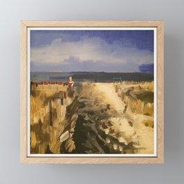 Cape May Beach Framed Mini Art Print