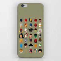 superheroes iPhone & iPod Skins featuring SuperHeroes by Luca Giobbe