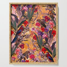 Floral and Birds XXVIII Serving Tray