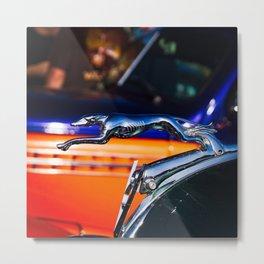 VINTAGE FORD V8 LOGO GREYHOUND Metal Print