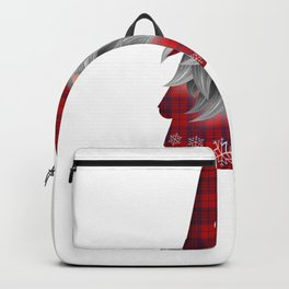 Christmas Gnome Red Plaid Backpack