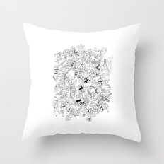 Block Party Throw Pillow