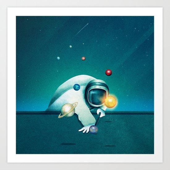 Astronaut Billards by mina_burtonesque