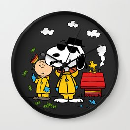 Breaking Peanuts Wall Clock