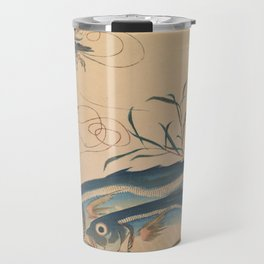 Horse Mackerel with Shrimp or Prawn Travel Mug