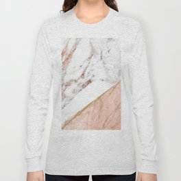 Marble rose gold blended Long Sleeve T-shirt