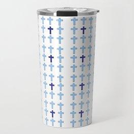 Christian Cross 26- blue Travel Mug