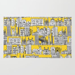 New York yellow Rug