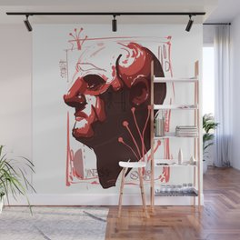 red face Wall Mural