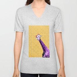 Tis The Season - Giraffe Unisex V-Neck
